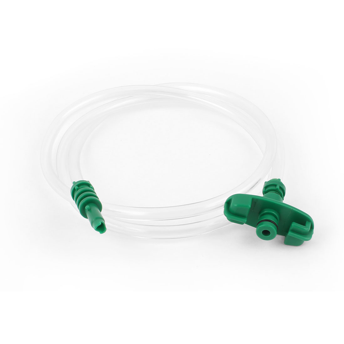 Green Plastic Head Air Hose Dispenser Adapter for 10cc 10ml Syringe Barrel