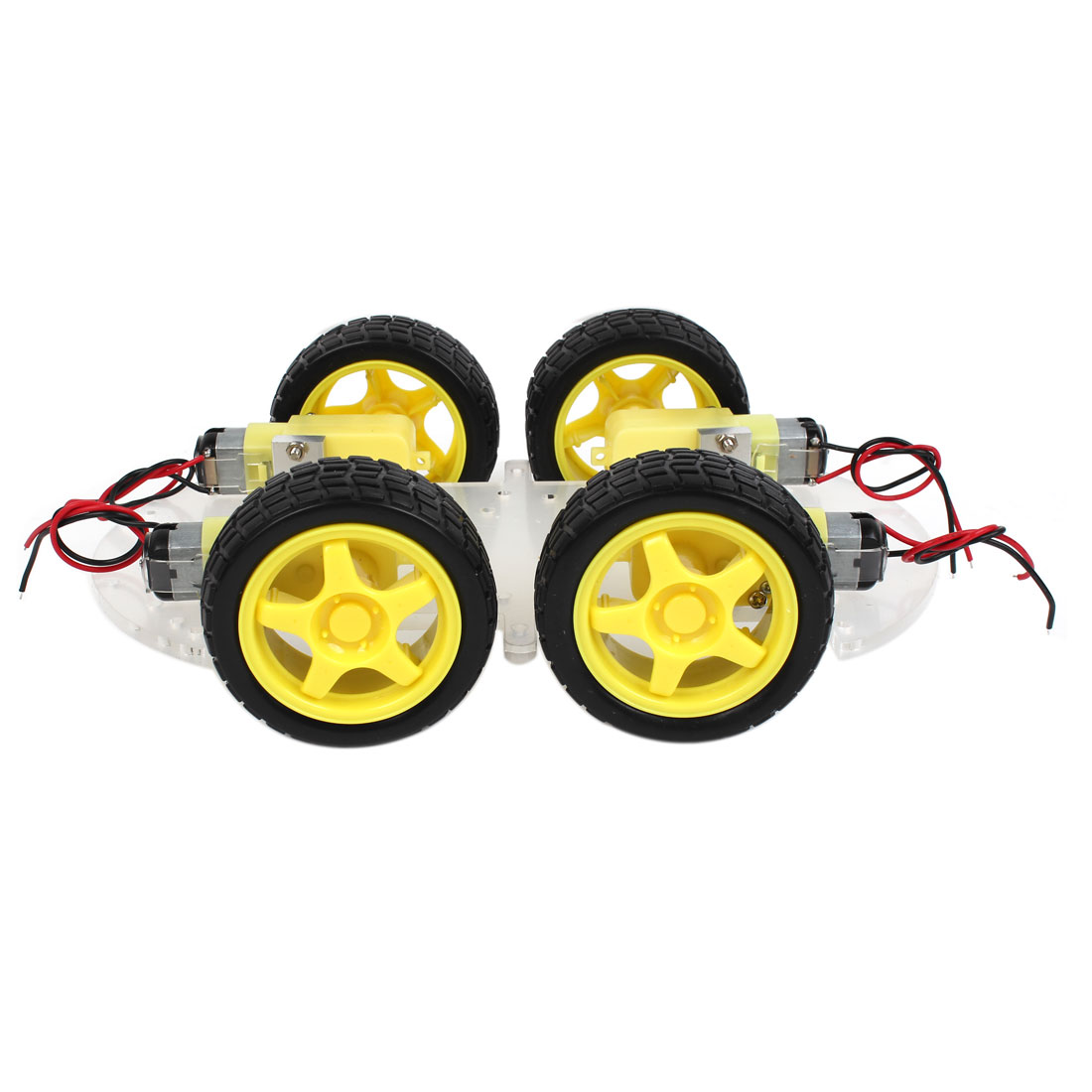 Single-layer 4-Motor IR Remote Control ST-4WD Intelligent Car Chassis