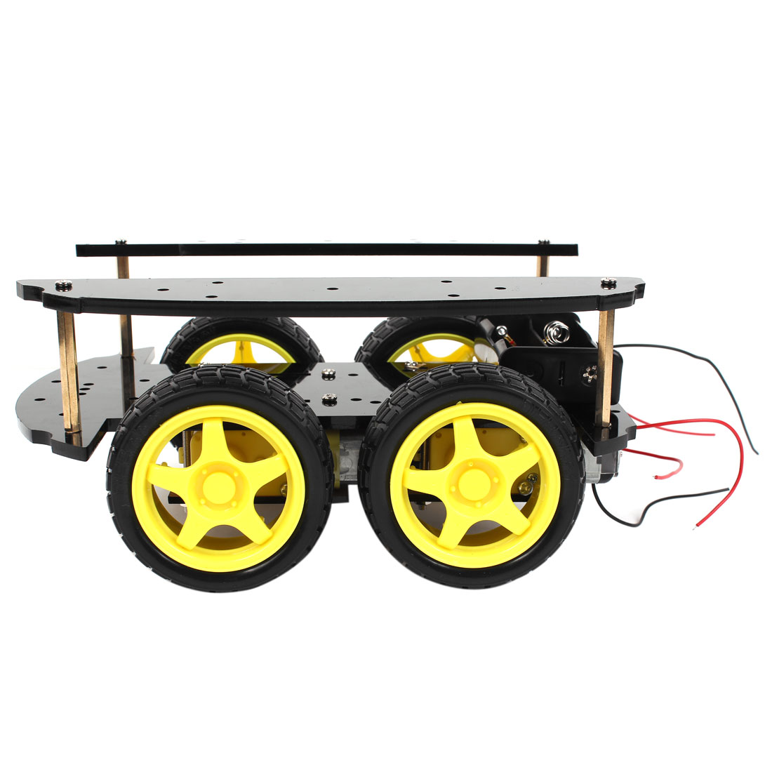 DIY Assembly 2-layer IR Remote Control 4WD Intelligent Car Chassis