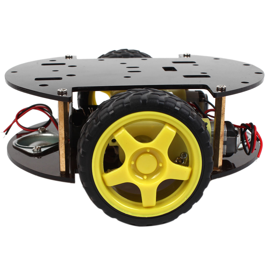 IR Remote Control 2WD Smart Car Robot Chassis w Battery Case
