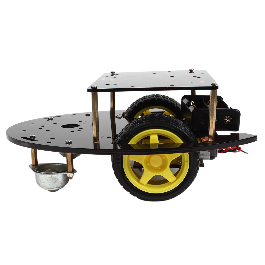 Dual-layer IR Remote Control 2WD Smart Car K-003 Chassis Module Kit