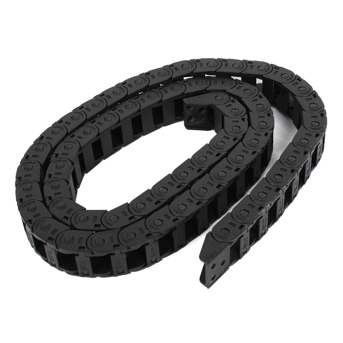 "41"" 105cm Length Black Plastic Towline Cable Drag Chain 10mm x 15mm"