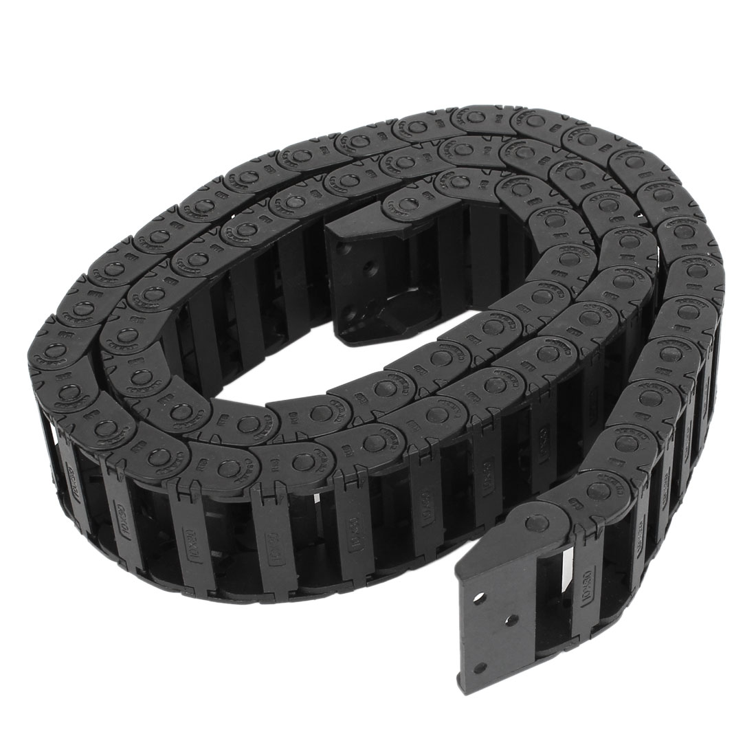 100cm R3.5cm Plastic Open Type Wire Carrier Cable Drag Chain 10mmx30mm