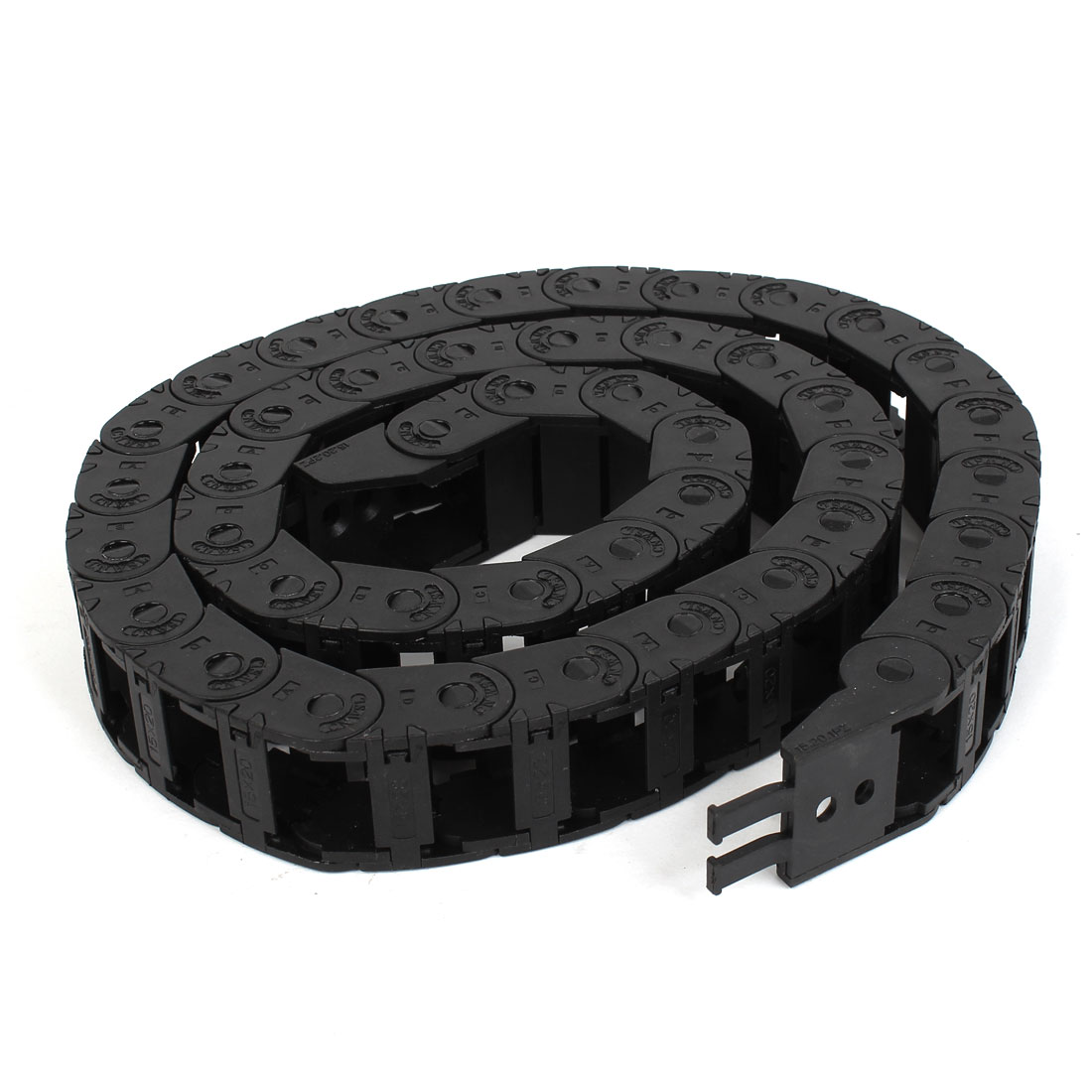 1M Long 15mm x 20mm Black Plastic Towline Cable Drag Chain