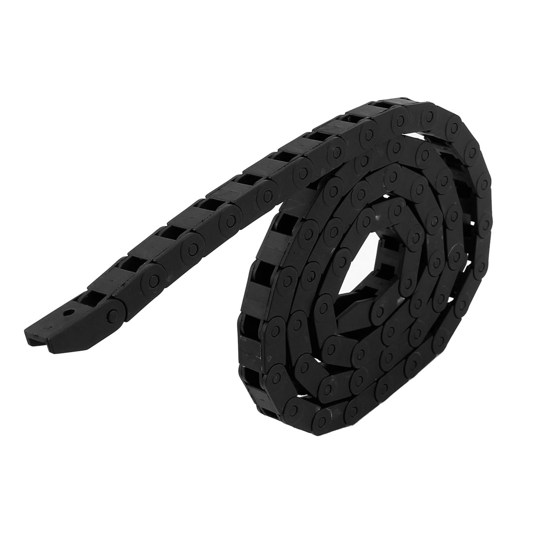 100cm R3cm Plastic Open Type Wire Carrier Cable Drag Chain 9mmx7mm