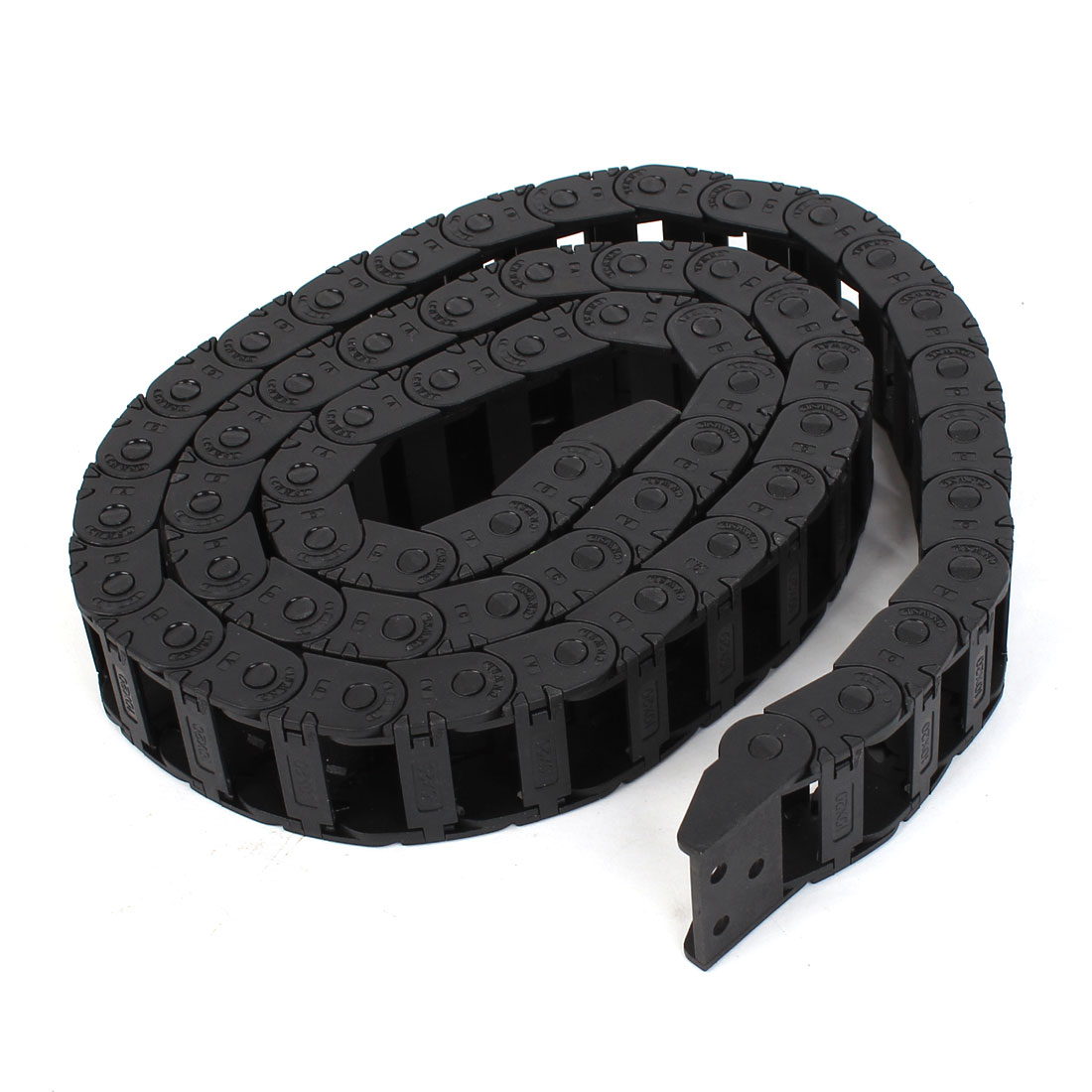 Machine Tool 10mm x 20mm Plastic Towline Drag Chain Black