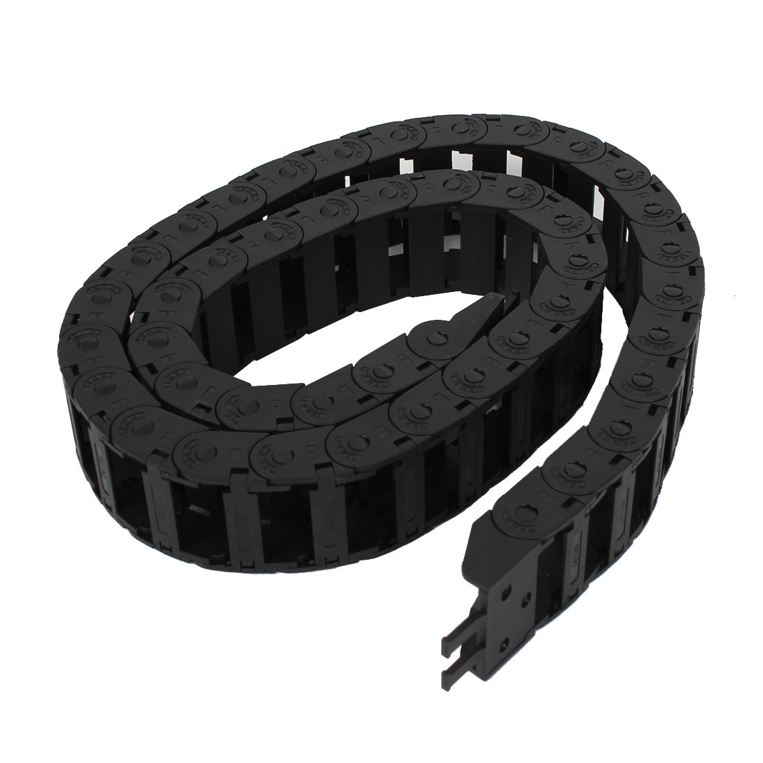 CNC Machine Black Plastic 15mmx30mm R7mm Cable Drag Chain 3.3Ft Long