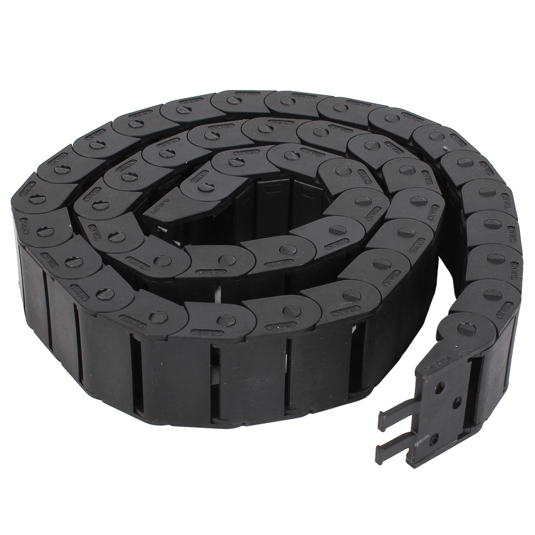 Black Plastic Drag Chain Cable Carrier 15mm x 30mm for CNC Machine