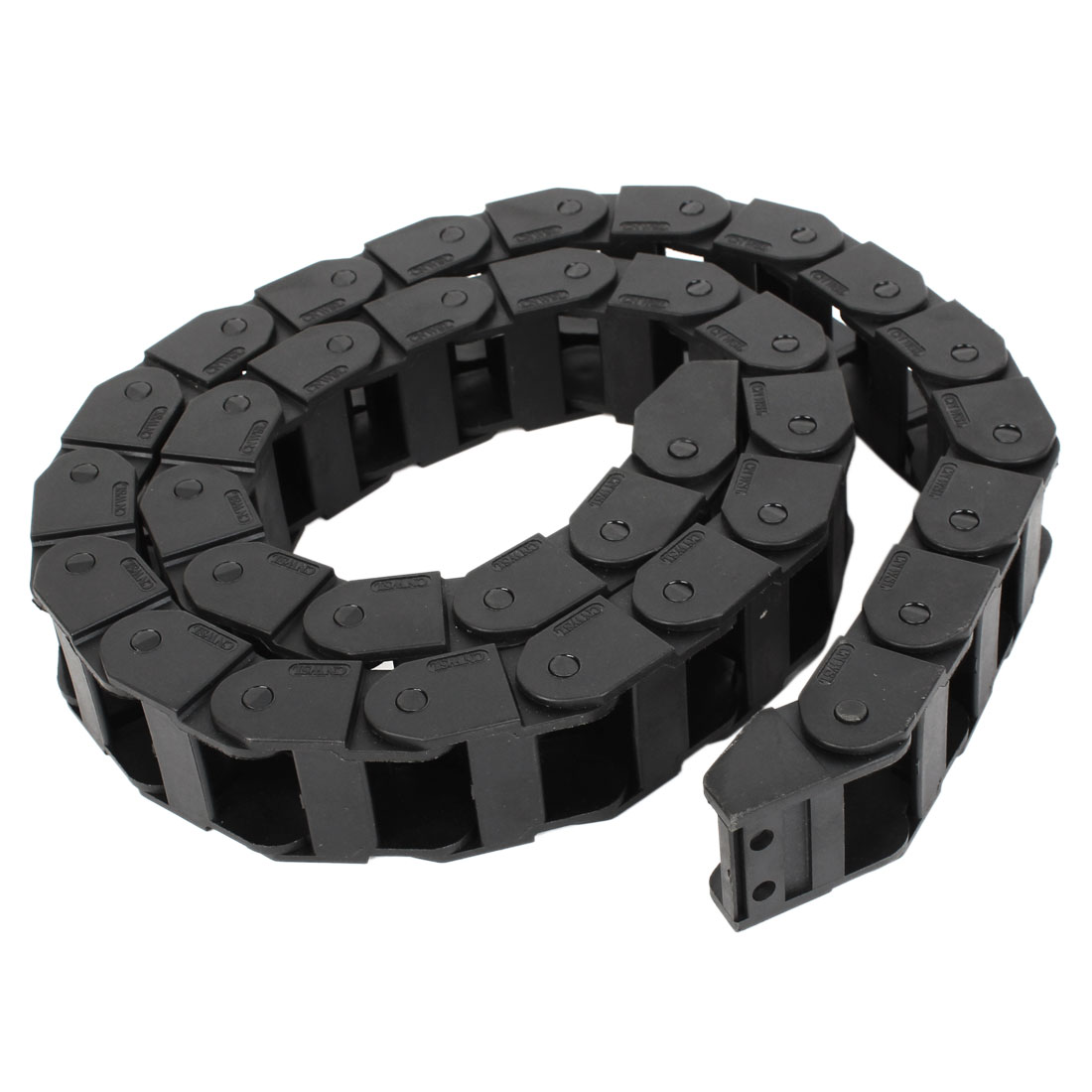 105cm Black Plastic Nested Flexible Drag Chain Cable Carrier 18mm x 25mm