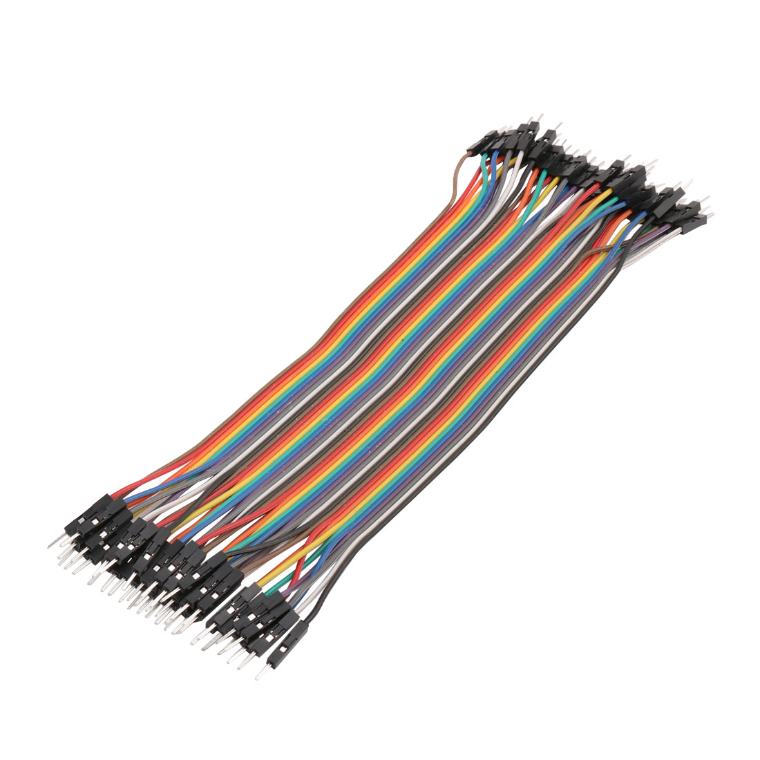 40Pin 21cm Male to Male Plug Jumper Cable Wire 2.54mm Pin Pitch
