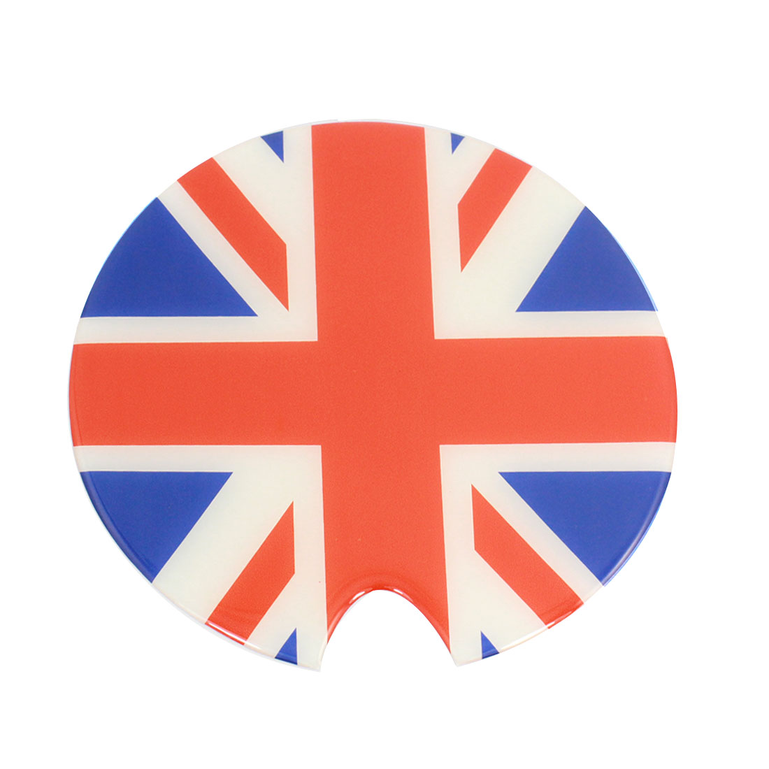 Reflective Flag Pattern Round Oil Tank Pad Round Sticker Decor for Car