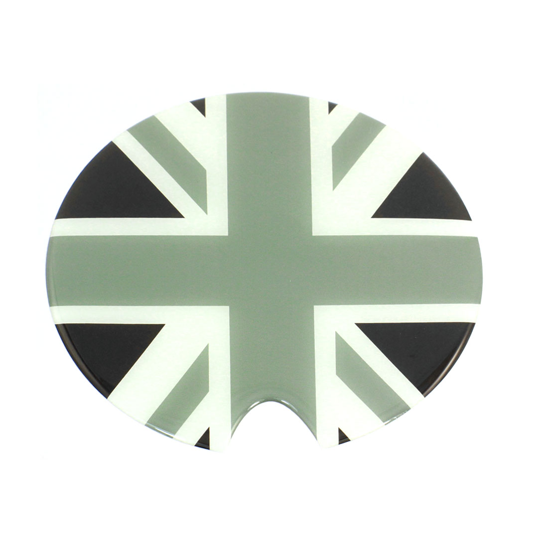 Auto Car Reflective Flag Pattern Oil Tank Pad Round Sticker Decor