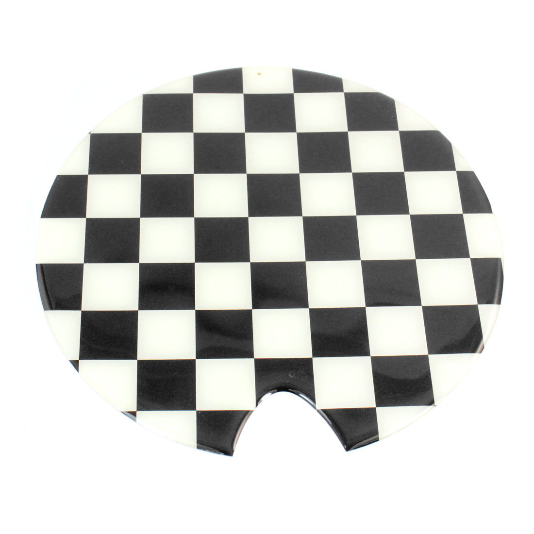 Black White Round Oil Tank Pad Sticker Decor for Car Auto