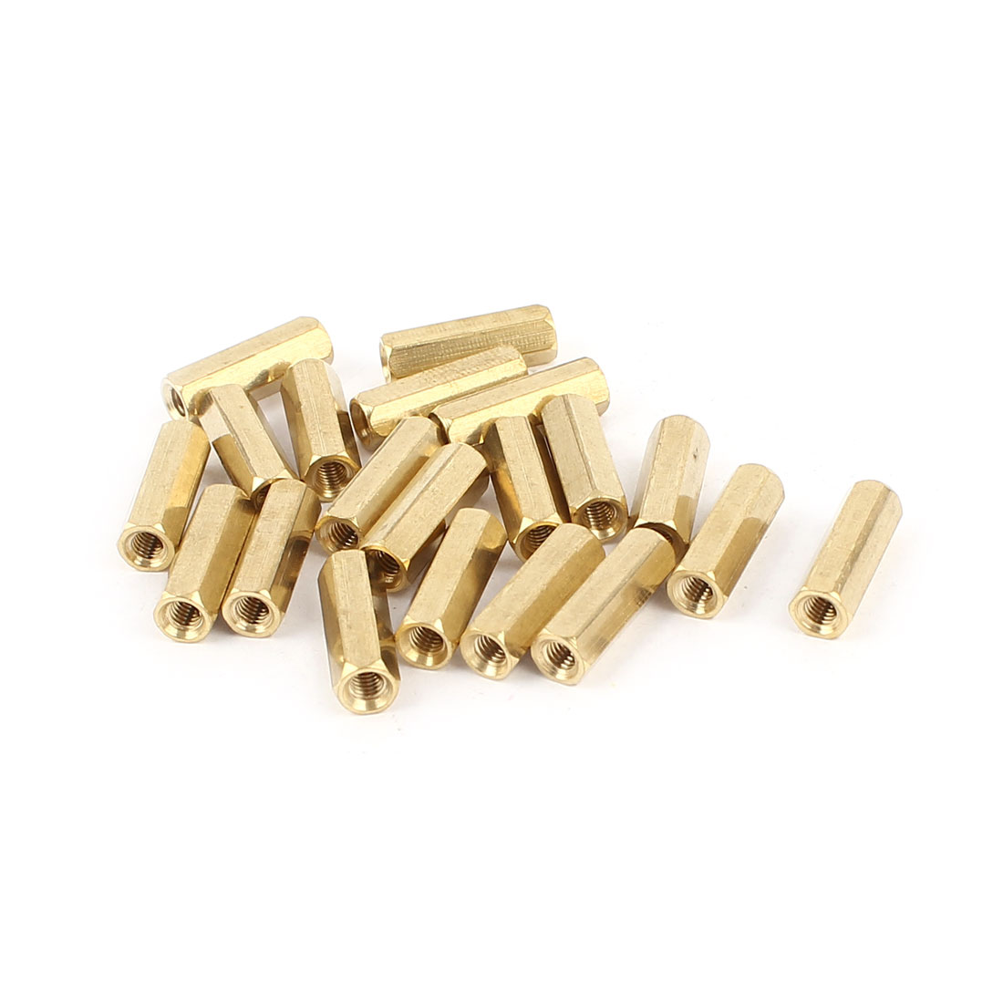 20 Pieces M3 Female Thread Brass Pillar Standoff Spacer 15mm 0.6""