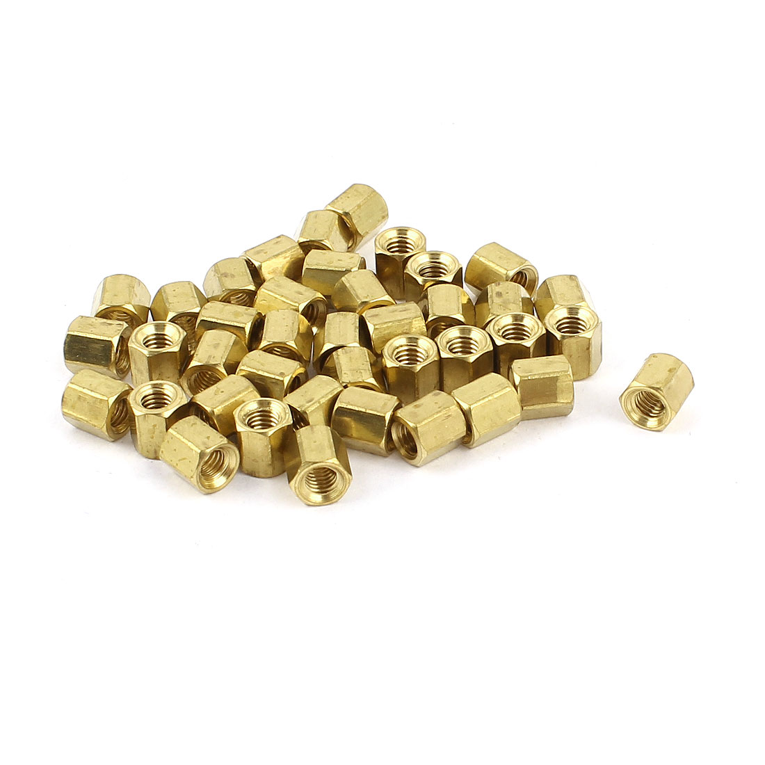 40Pcs M3 Female 5mm Long Hexagonal Standoff Spacer Gold Tone