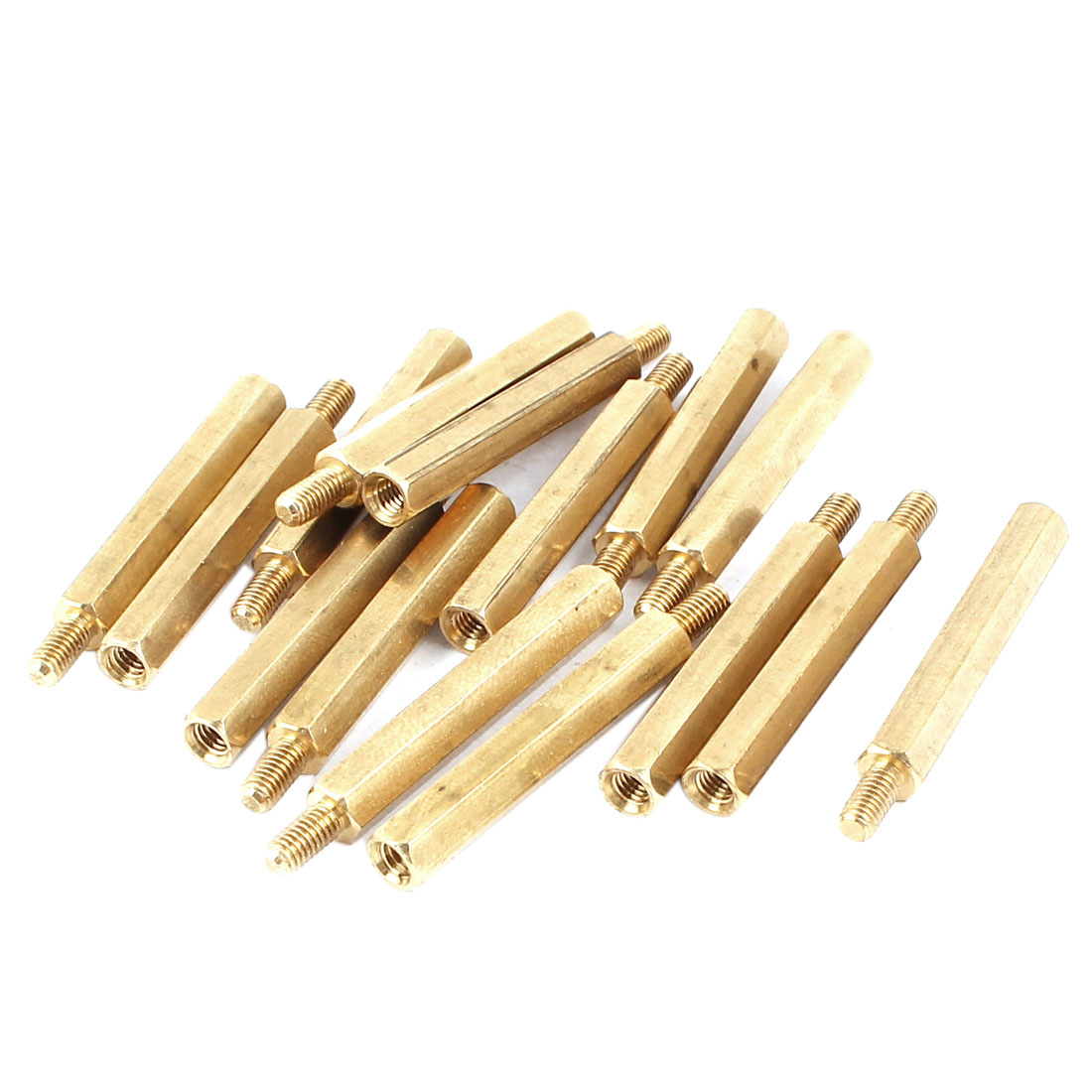 15pcs M3x6mm Male to Female Thread Brass Pillar Standoff Spacer 36mm Long