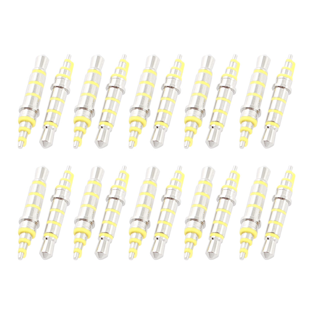 20Pcs 3.5mm Male 4 Pole Earphone Headphone Audio Jack Silver Tone