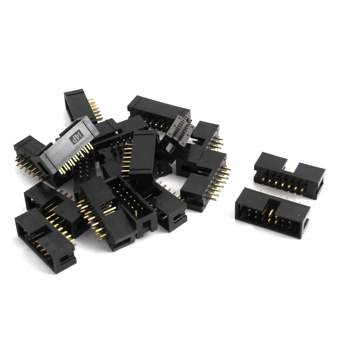 20pcs 2 Row 14 Pin 2.54MM DC3-14P Straight JTAG Socket Connector for Flat Ribbon Cable