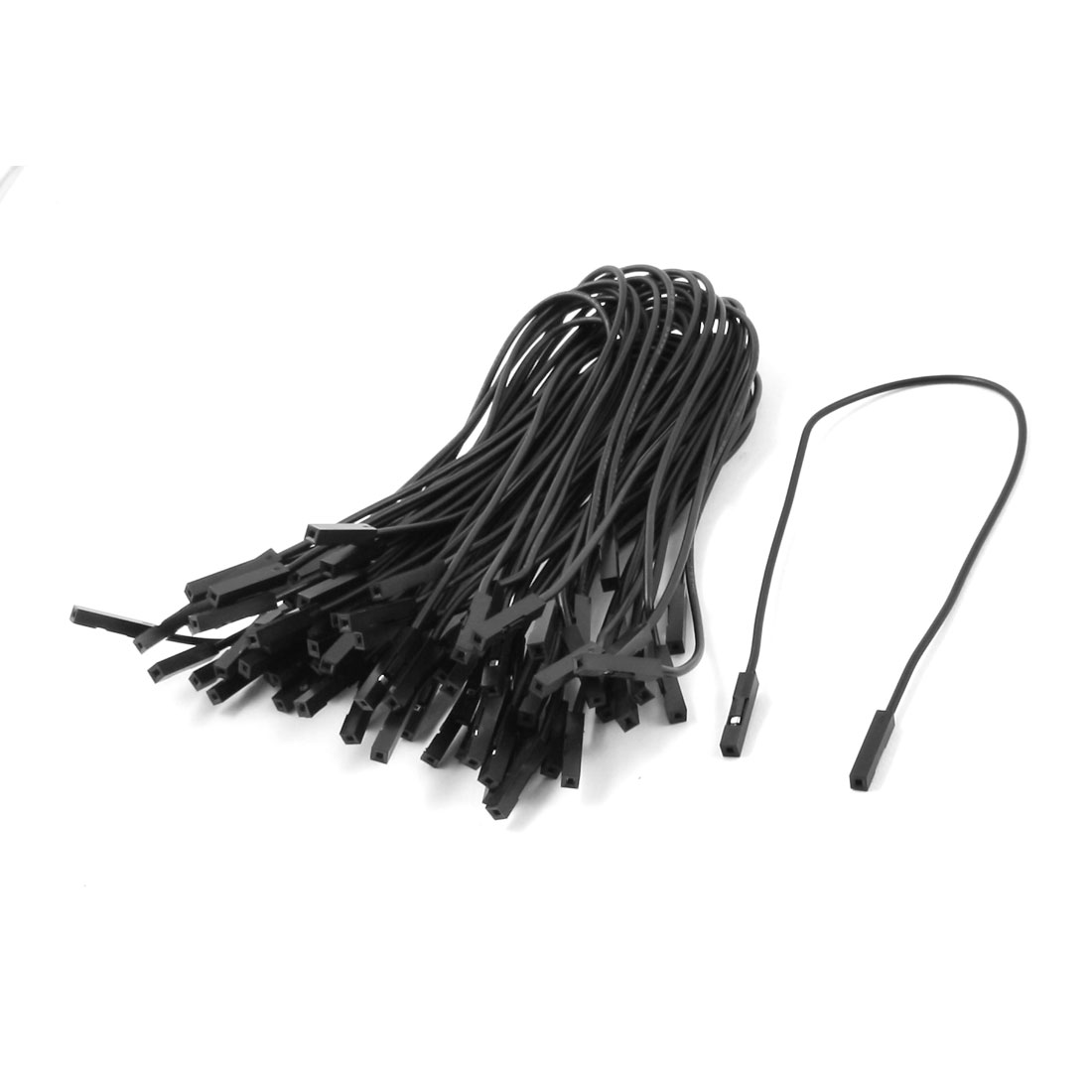 40pcs Female to Female Solderless Breadboard Jumper Wire Black