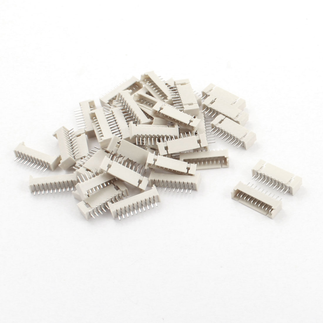 40Pcs 1.25mm Pitch Straight 10 Pins JST XH Male Connector Pin Header