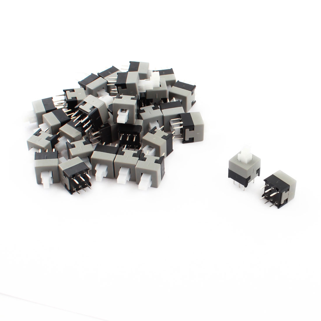 30PCS 13mmx8.5mmx8.5mm DIP Through Hole Push Button Locking Tactile Tact Switch