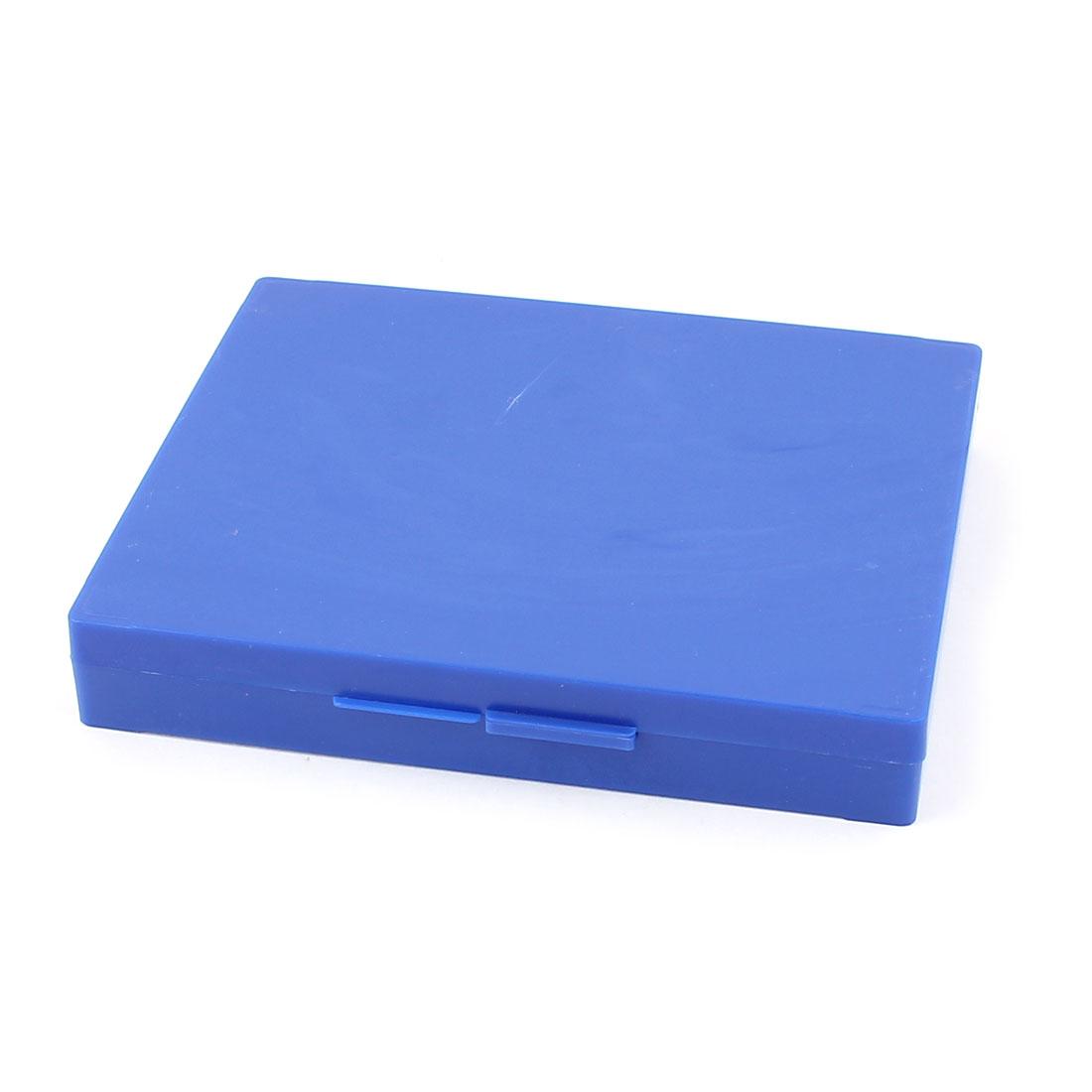 Blue Plastic Shell 100 Slots Rectangular Microscope Glass Slide Box
