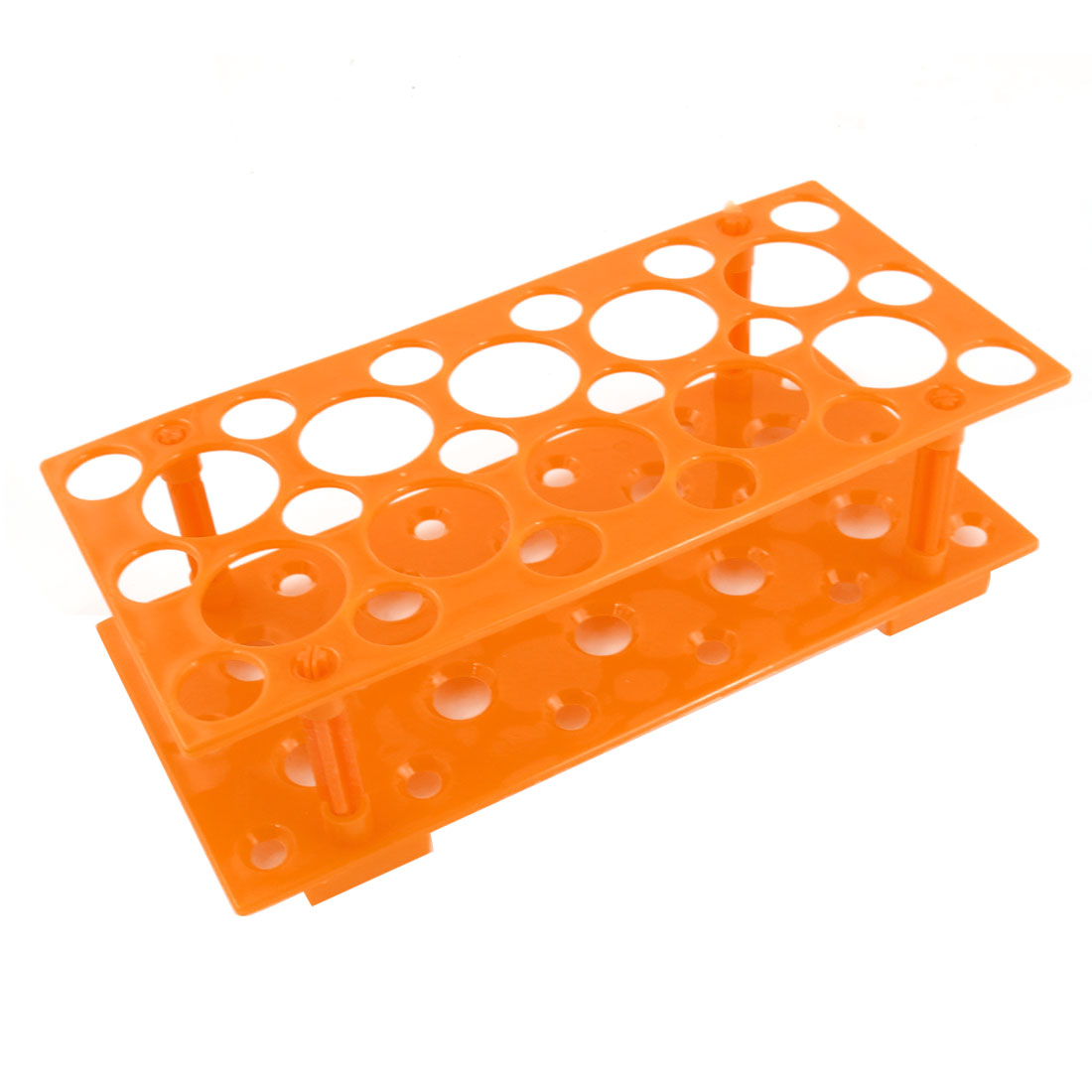 Plastic 2 Layers Detachable 5mL 10ml 50ml Centrifuge Tube Rack Orange