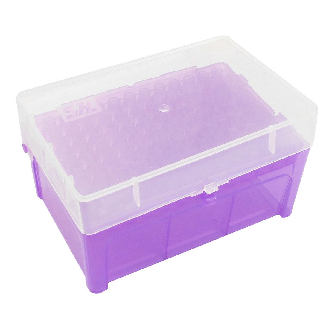 Laboratory 96 Positions 200uL Pipette Pipettor Tip Box Purple