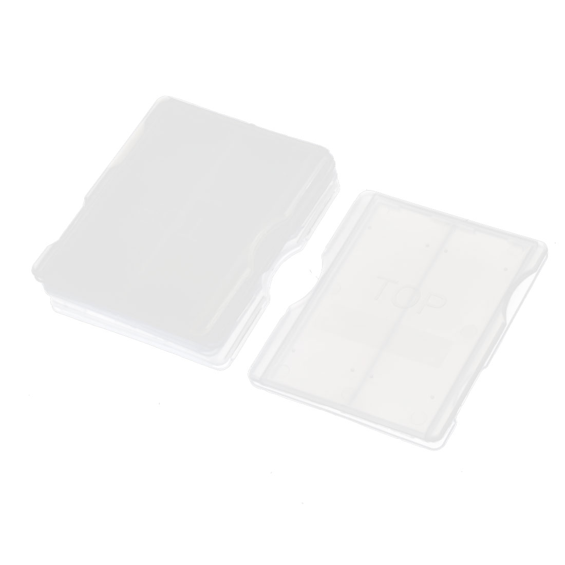 5 Pcs 2 Compartment Microscope Glass Slide Box Case Clear