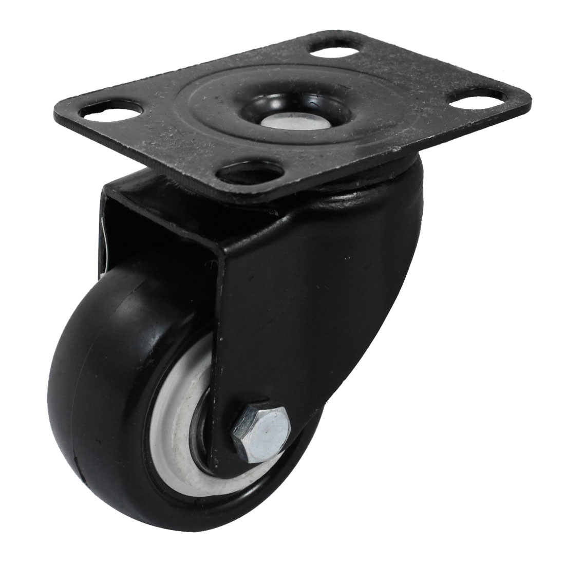 "Trolley 2"" Round Single Wheel Rectangular Top Plate 360 Degree Rotation Swivel Caster"