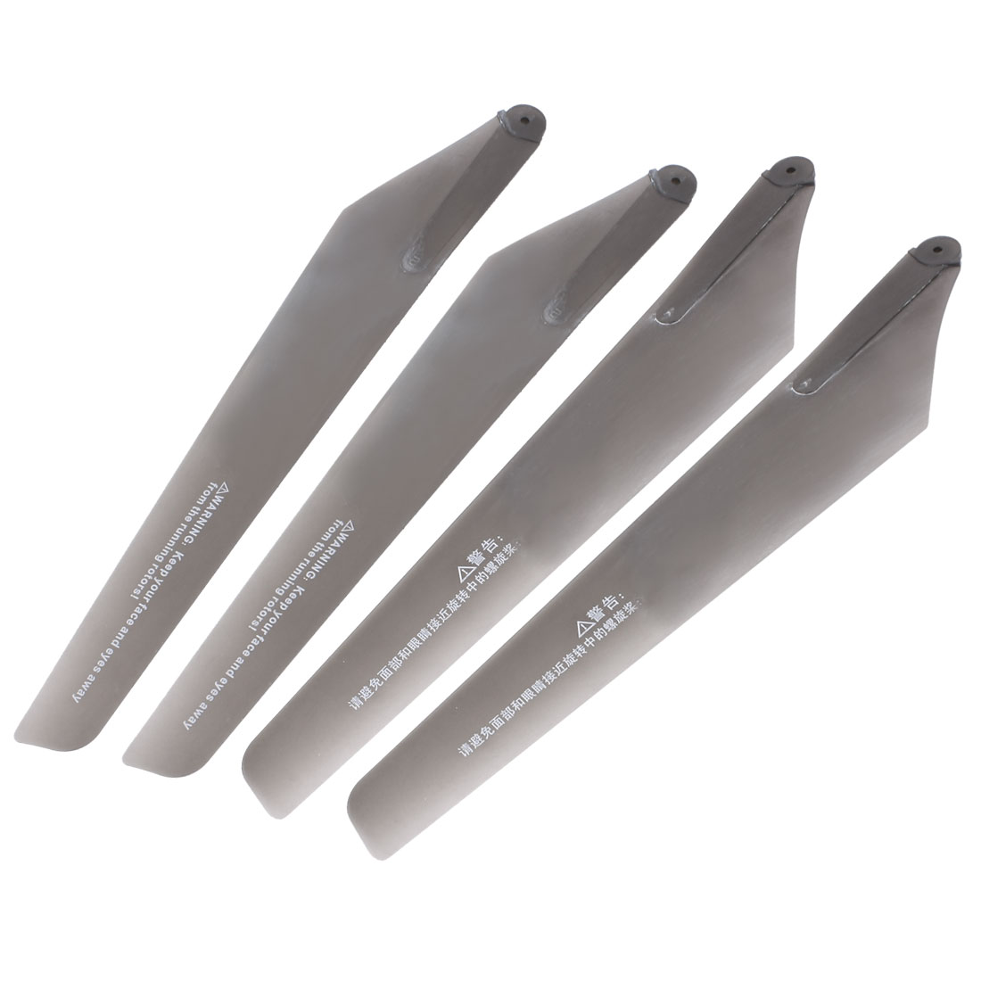 4 Pcs Gray Plastic Folding Propeller Vanes for 6023 RC Aircraft Plane Helicopter