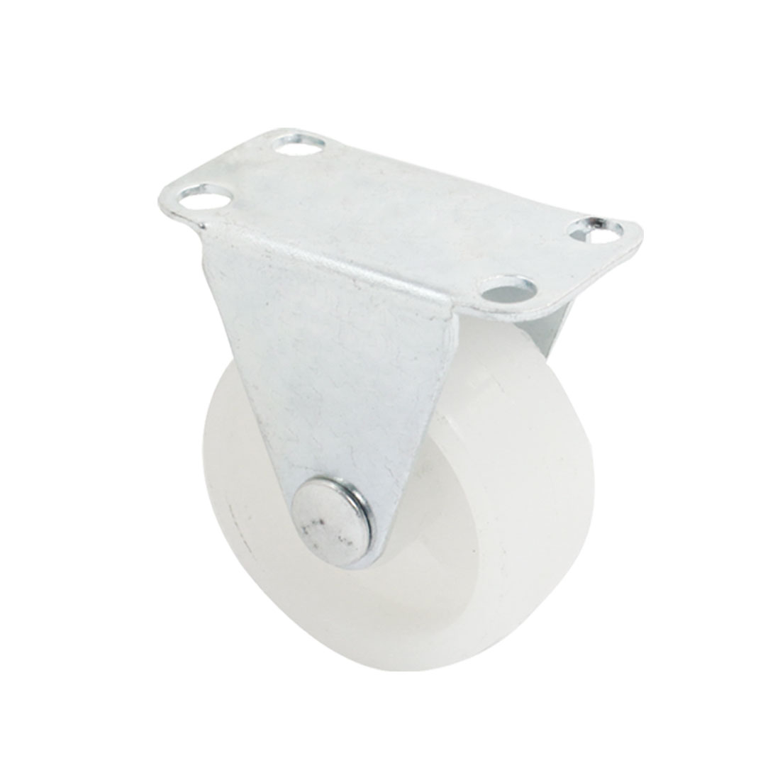 "Shopping Trolley 1.5"" Round Single Wheel Rectangle Top Plate Fixed Caster"