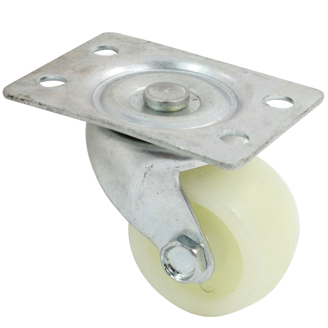 "Trolley 1.5"" Round Single Wheel Rectangle Top Plate 360 Degree Rotation Swivel Caster"