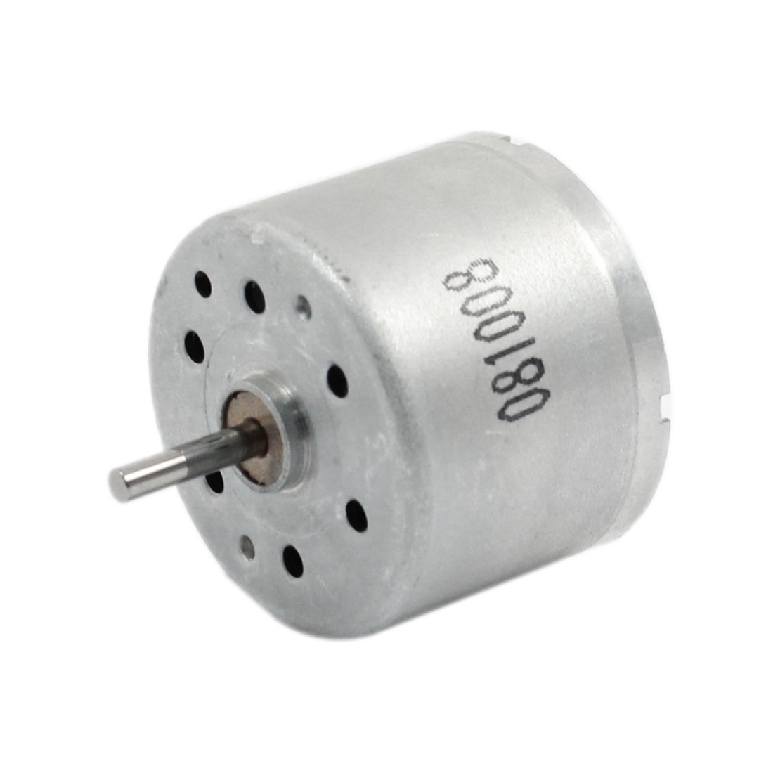2mm Shaft 24mm Diameter Electric 2 Terminal Cylinderl Permanent Mini Motor 4200RPM DC 3.0-9.0V
