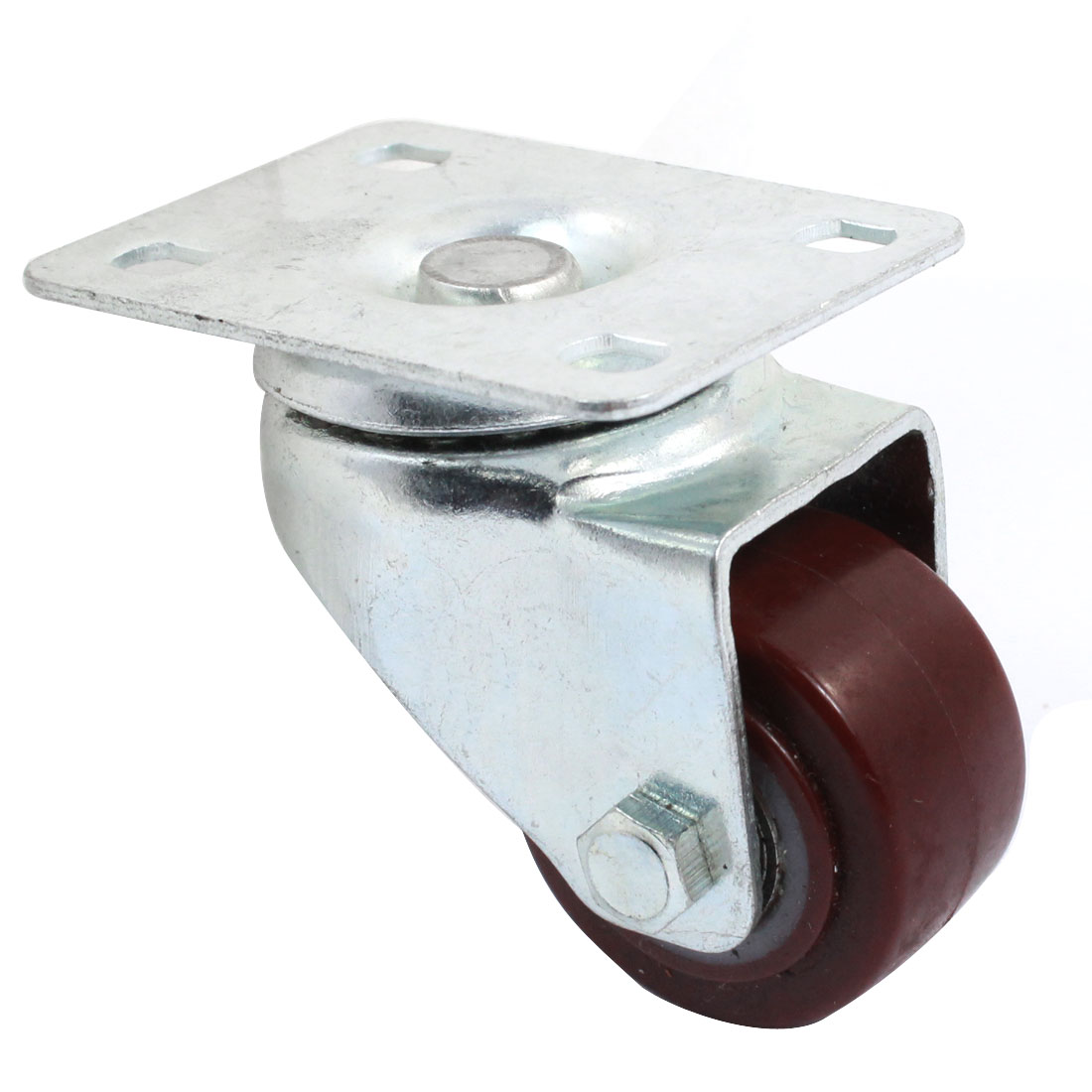 Single Wheel Rectangle Top Plate 360 Degree Rotatable Swivel Caster