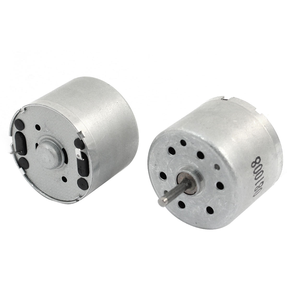 2 Pcs 2mm Shaft 24mm Diameter Electric Mini Motor 4200RPM DC 3.0-9.0V