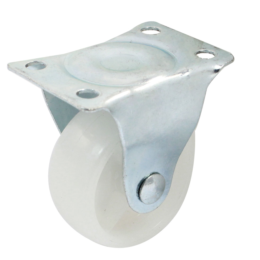 "Shopping Trolley 2"" Round Single Wheel Rectangle Top Plate Fixed Caster"