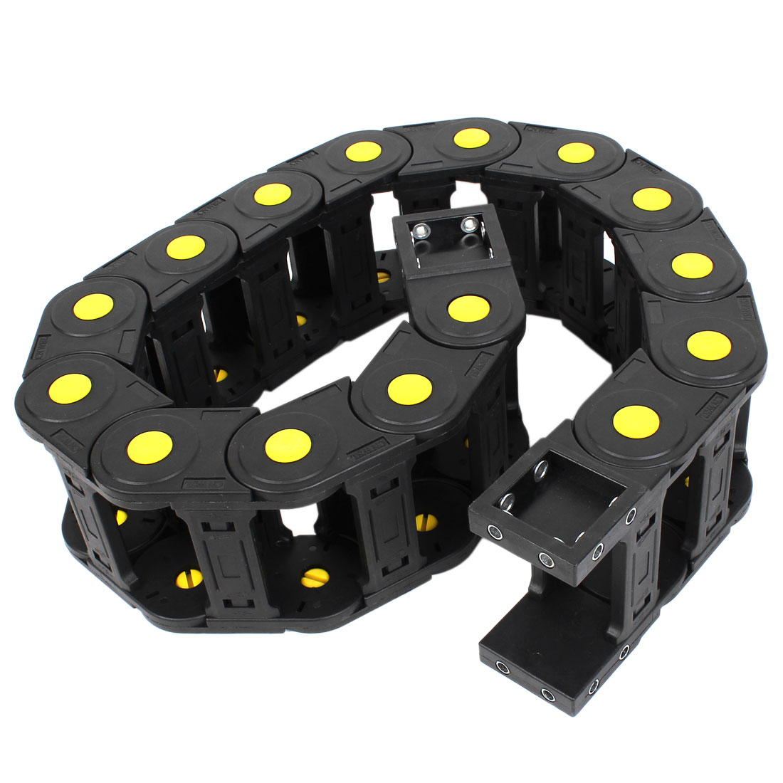 104cm R16cm Plastic Open 35mmx75mm Wire Cable Carrier Drag Chain Black