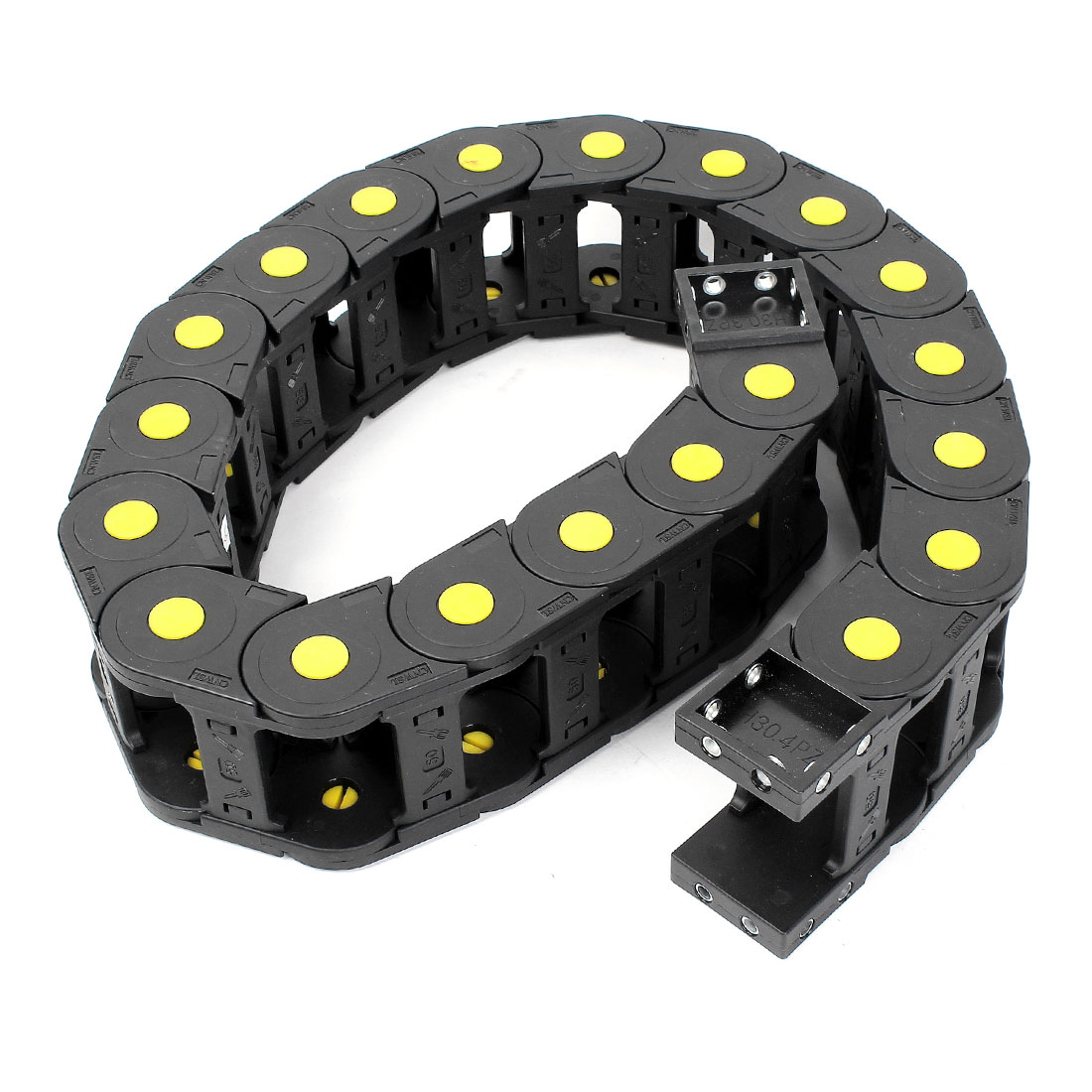 99cm R11cm Plastic Open 30mmx50mm Wire Cable Carrier Drag Chain Black