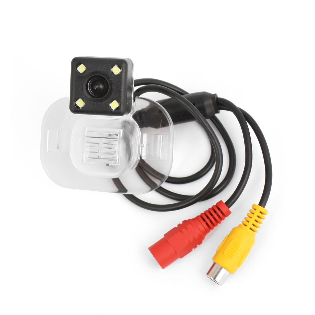 Car 4 White LED License Plate CCD Wide Angle Rear View Parking Camera for FORTE
