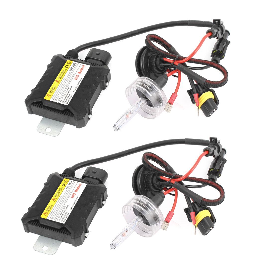 35W Car HID Kit Slim Ballasts H7 High/Low Bulbs 8000K White Xenon HeadLight 35W 12V