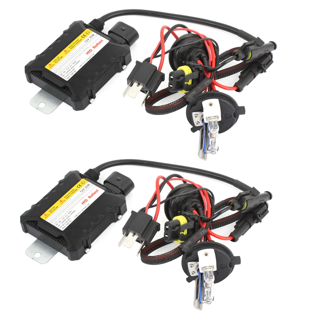 2 Pcs 12V 35W Xenon HID Conversion Kit w Ballast for H4 8000k Headlight