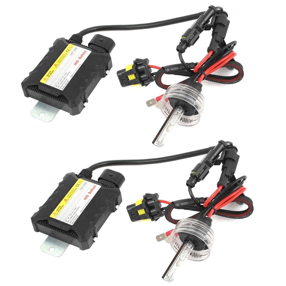 2 Pcs Car HID Xenon Headlight H7 4300K 12V 35W Bulbs White w Ballast