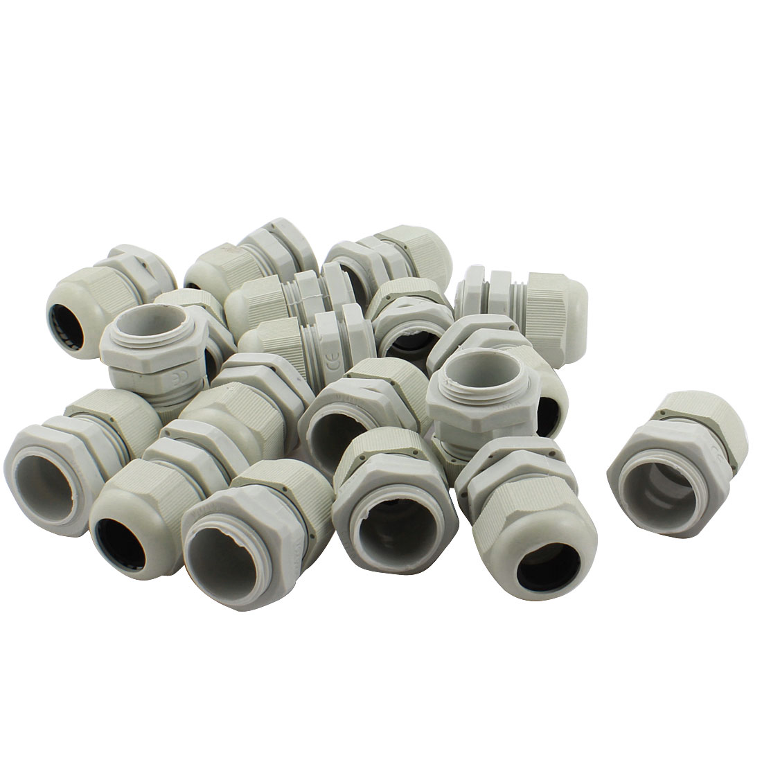 20Pcs M24X1.5 12mm to 16mm Waterproof Connector Adapter Joint Plastic Cable Gland White