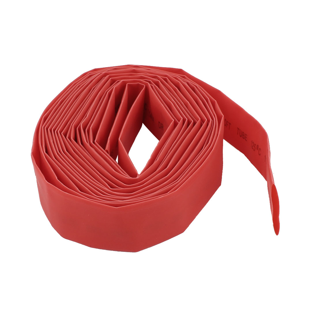 16mm Diameter Heat Shrinkable Tube Shrink Tubing Wire Wrap 5M 16Ft Red