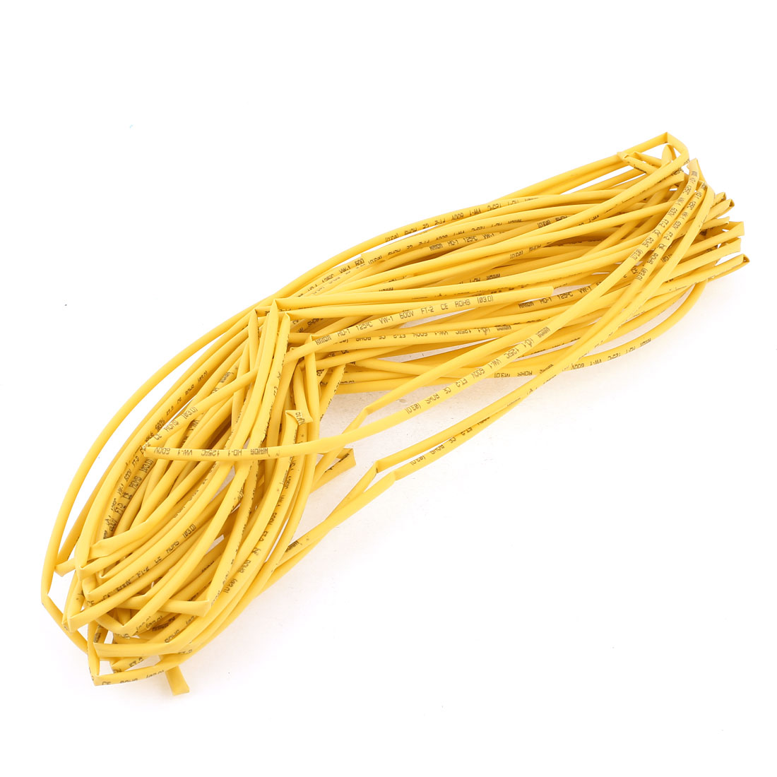 Ratio 2:1 Yellow Polyolefin 3mm Dia Heat Shrink Cover Wiring Shrinkable Tube 20M