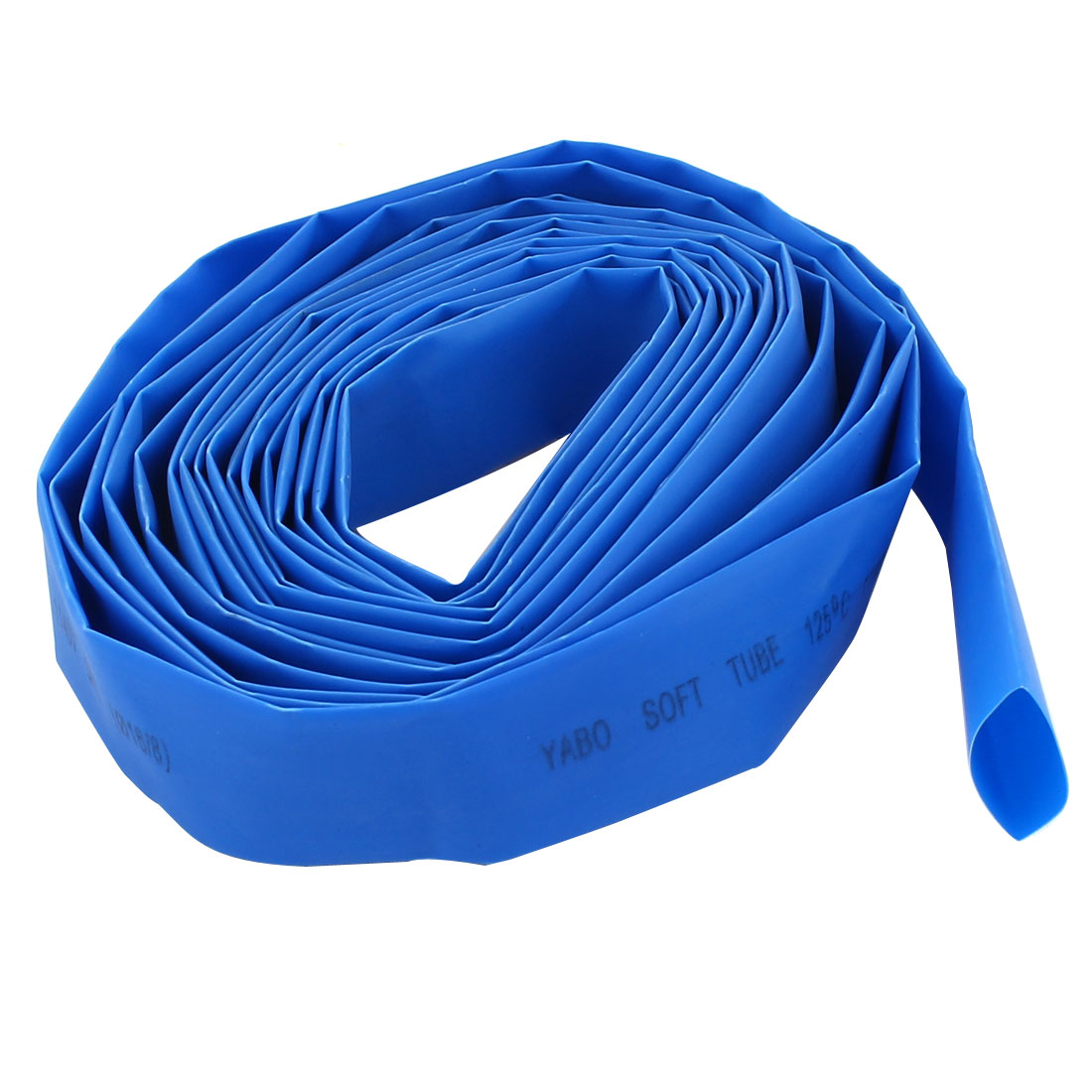 16mm Diameter Heat Shrinkable Tube Shrink Tubing Wire Wrap 5M 16Ft Blue