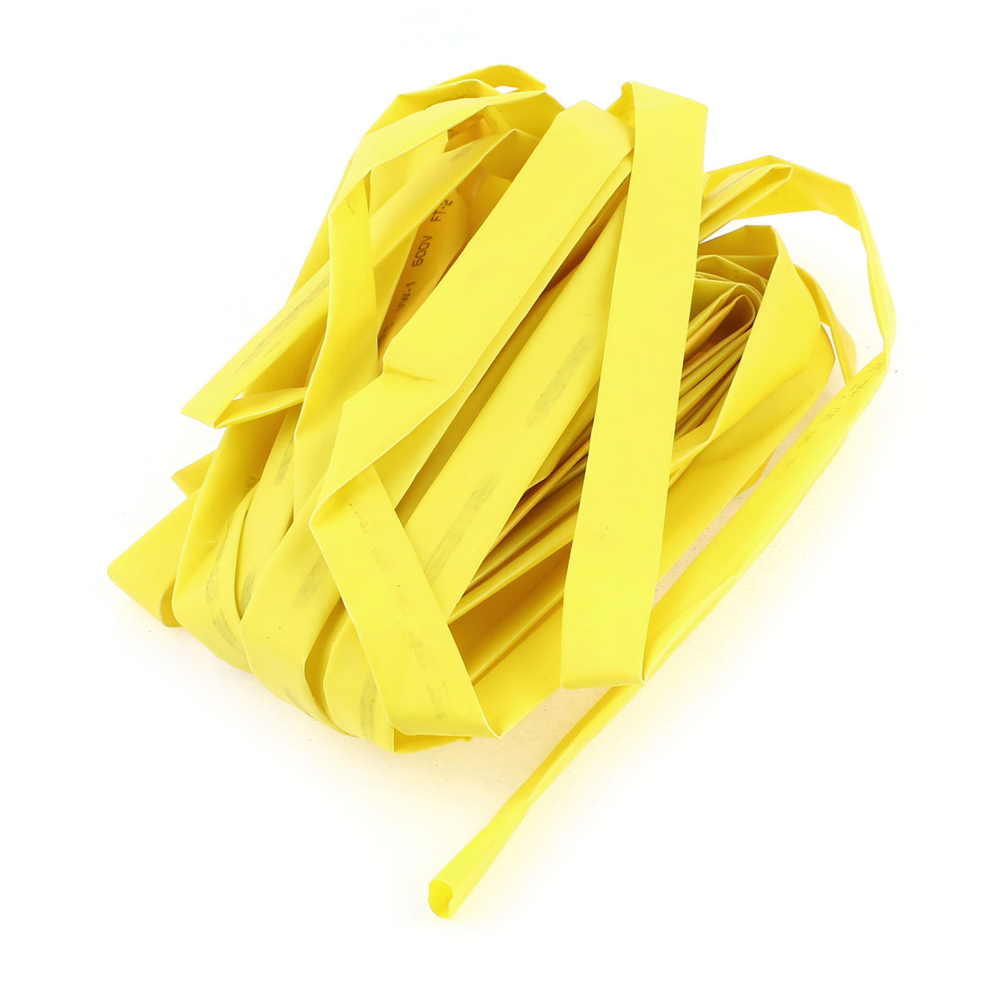 12mm Dia Polyolefin Heat Shrinkable Tube Shrink Tubing Wire Wrap 10M 33Ft Yellow