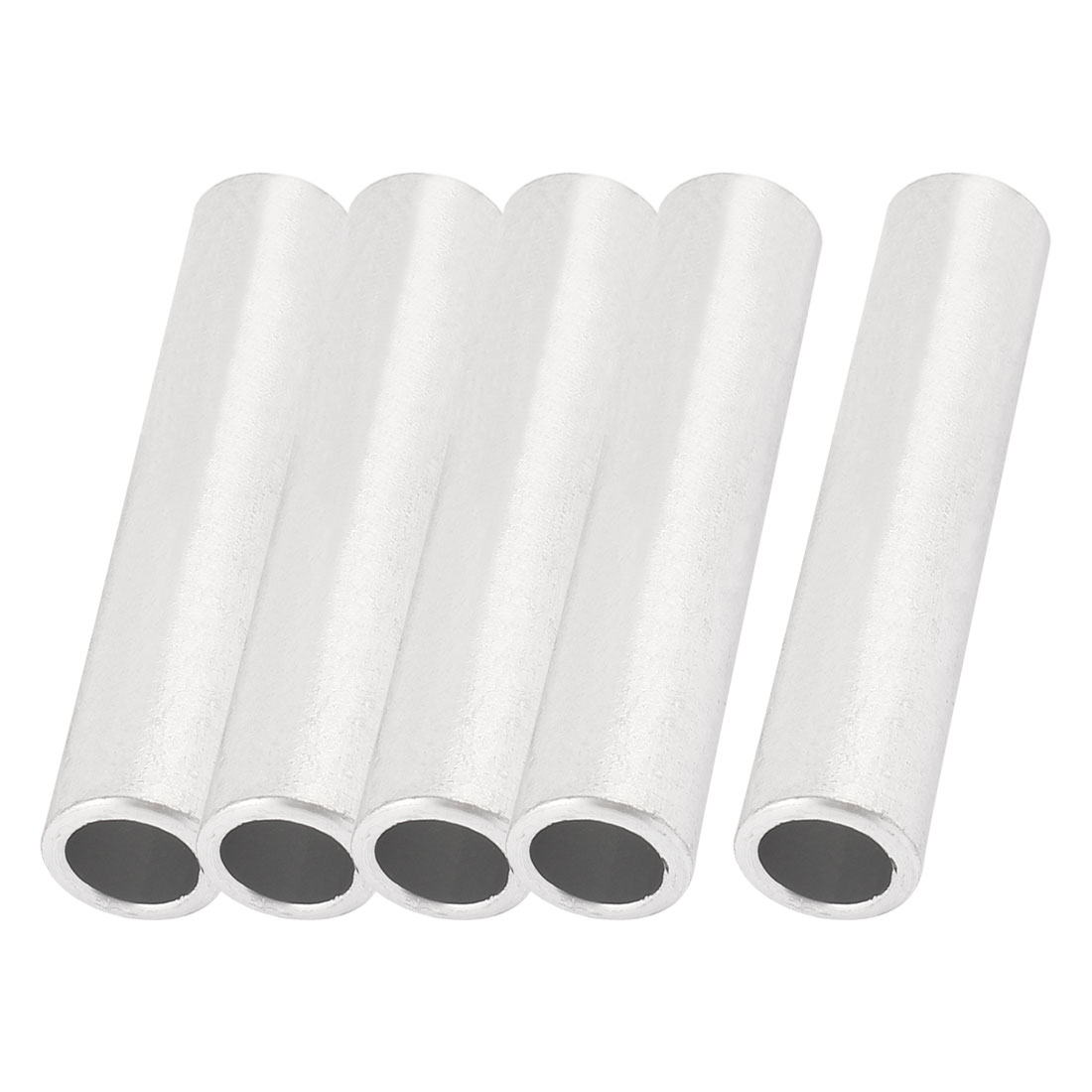5 Pcs 12mm Inner Dia Straight Passing Through Aluminum Connecting Tube