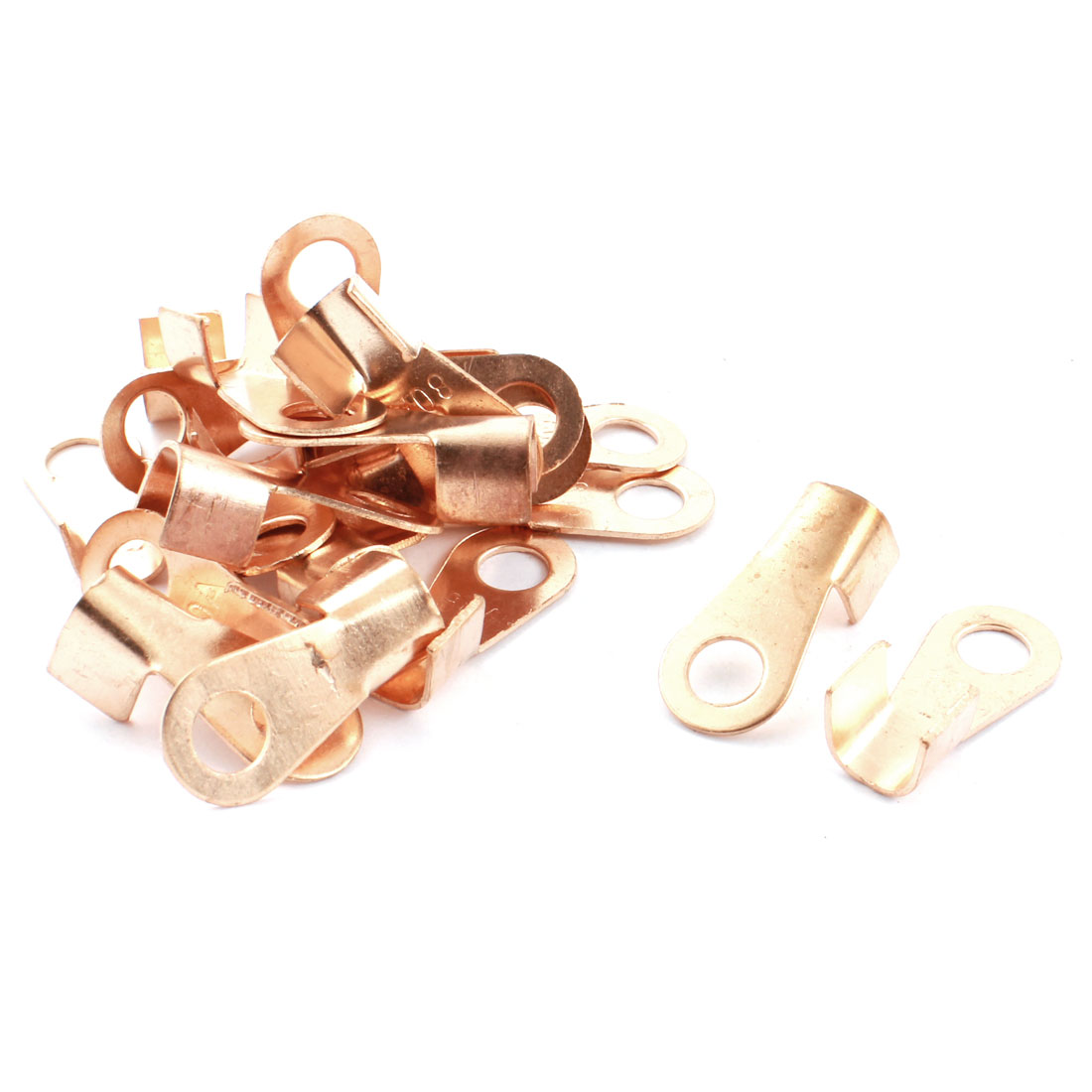 20 Pcs 80A Open Cable Connector Ring Lug Copper Passing Through Terminals
